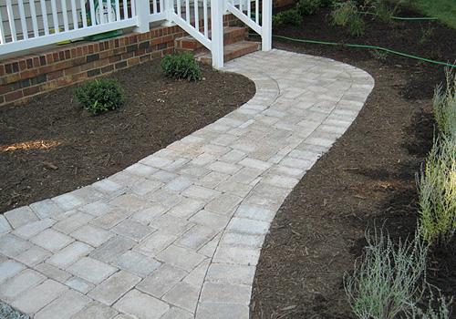masonry construction walkway