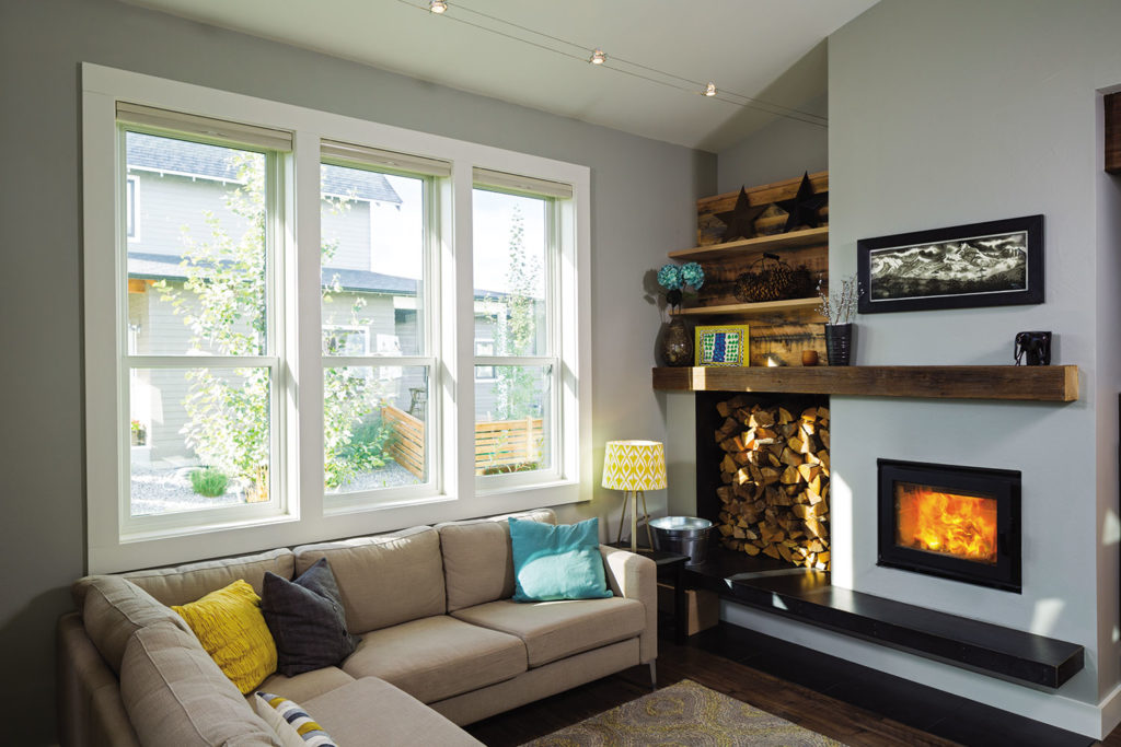 double hung windows in home