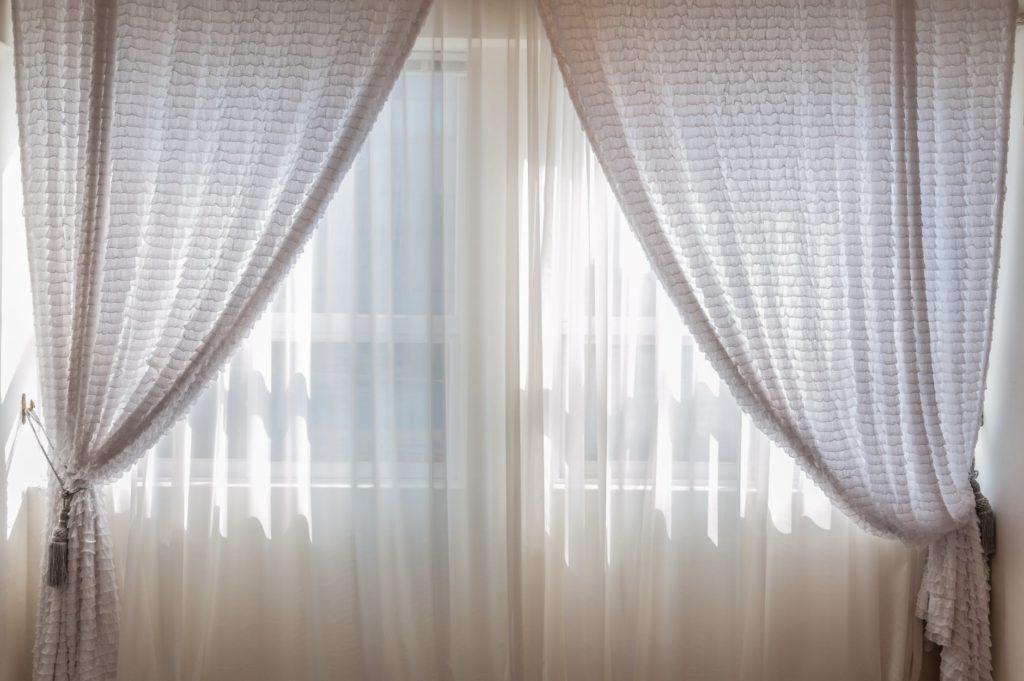 windows with window treatment