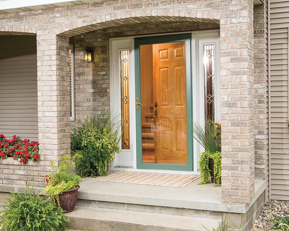 attractive storm door for the home