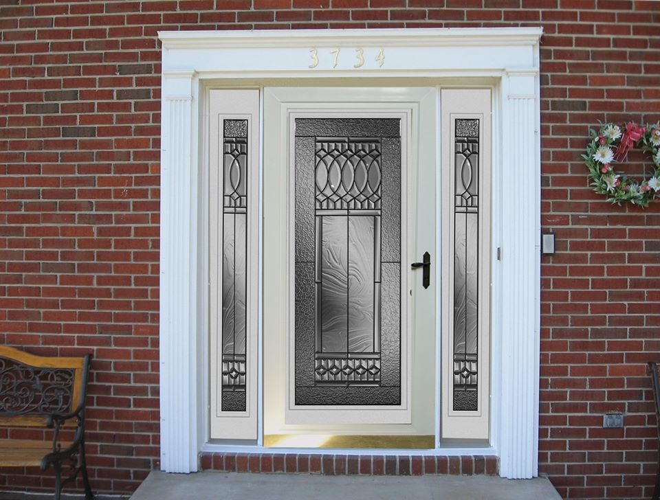 entry door with glass panels