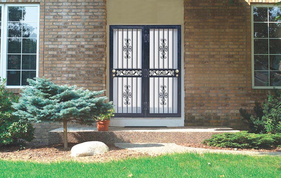 entry door with security door